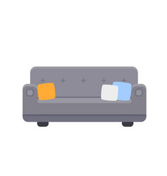 Couch icon with pillows vector