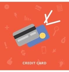 Credic card icon vector