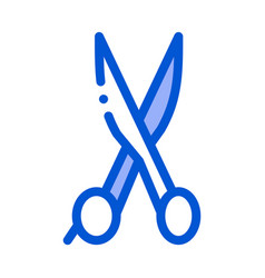cut hair iron scissors icon outline vector image