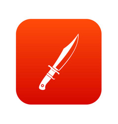 Dagger icon digital red vector