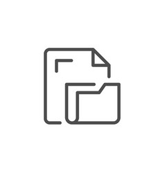 document folder line icon vector image