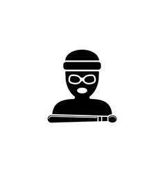 drummer avatar flat icon vector image