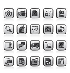 e-commerce and shop icons vector image