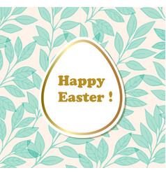 easter decorative background vector image