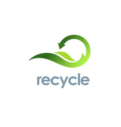 Eco recycle arrow logo vector