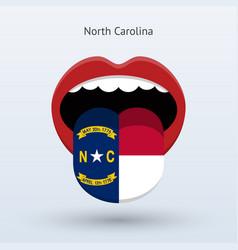 Electoral vote north carolina abstract mouth vector
