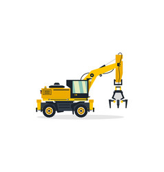 Excavator commercial vehicles construction vector