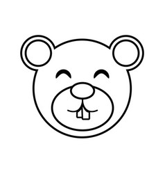 face bear animal outline vector image vector image