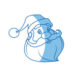Face of santa claus merry christmas character vector