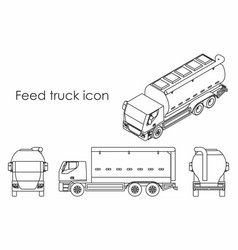 Feed truck icon vector
