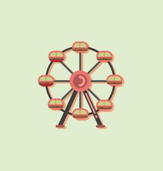 Ferris wheel icon in sticker style vector