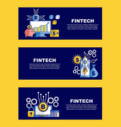 Fintech business related vector