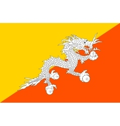 Flag of Bhutan in correct size and colors vector image