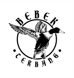 flying ducks logo vector image
