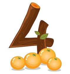 Four oranges vector