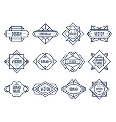 geometric labels geometrical badge minimal vector image
