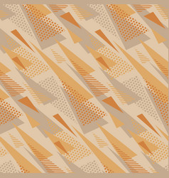 Geometric triangles retro style seamless pattern vector