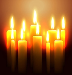 Glowing candle vector