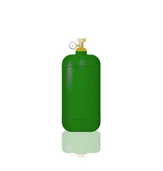 Green cylinder with liquefied gas vector