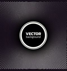 halftone dotted circle background abstract vector image