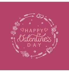 Hand drawn valentines day vector