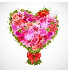 heart shaped posy vector image