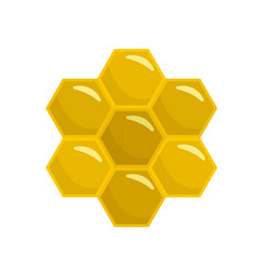 honey comb of bee icon flat style vector image