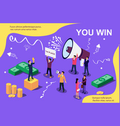 Isometric concept group people vector
