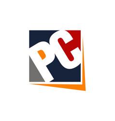 Letter pc modern vector
