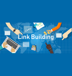 link building search engine optimization create vector image