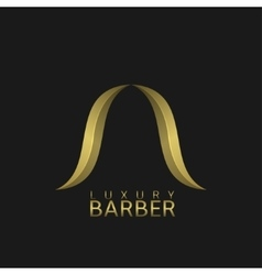 Luxury barber shop logo vector image