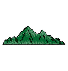 Mountain peak alpine nature tourism vector