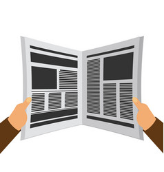newspaper in the hands flat vector image