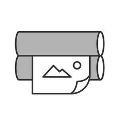 Offset printer color icon vector