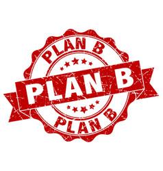 plan b stamp sign seal vector image