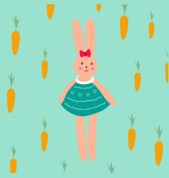 Print with cute bunny vector