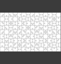puzzle pieces grid vector image