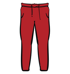 red pants on white background vector image