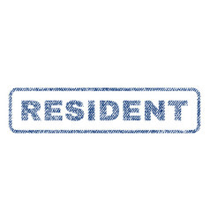 Resident textile stamp vector