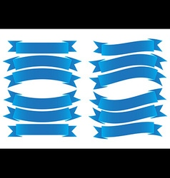 ribbon banner blue vector image