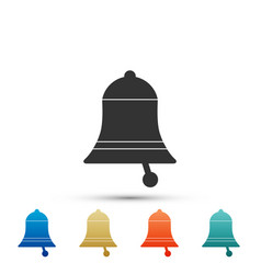 Ringing bell icon isolated on white background vector