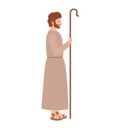 Saint joseph with cane character vector