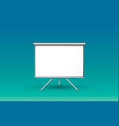 scene presentations board table white display vector image