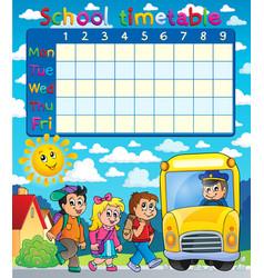 School timetable composition 6 vector
