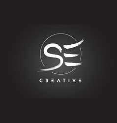 Se brush letter logo design artistic handwritten vector