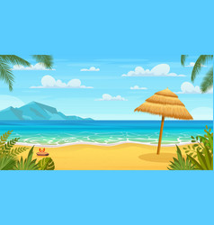 Sea panorama tropical beach vector
