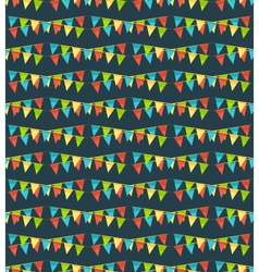 Seamless bright fun celebration festive buntings vector