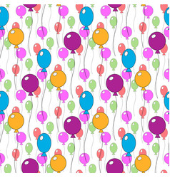 seamless pattern of different colorfull cute vector image