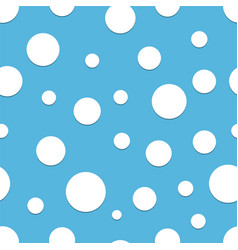 seamless polka dot blue background vector image
