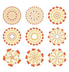 Set of autumn mandalas vector